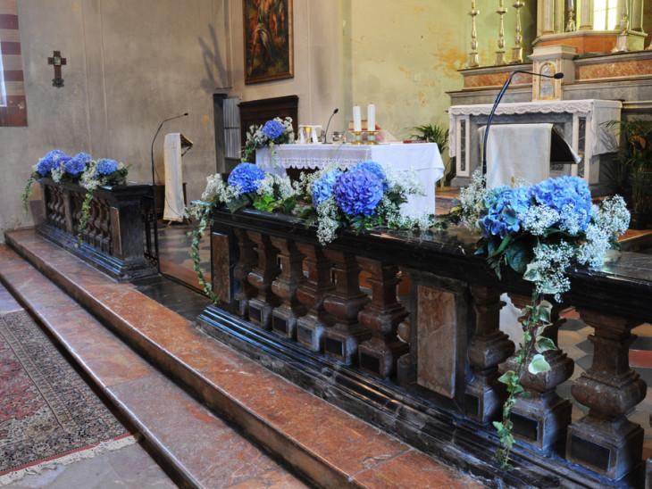 Matrimonio con Ortensie blu