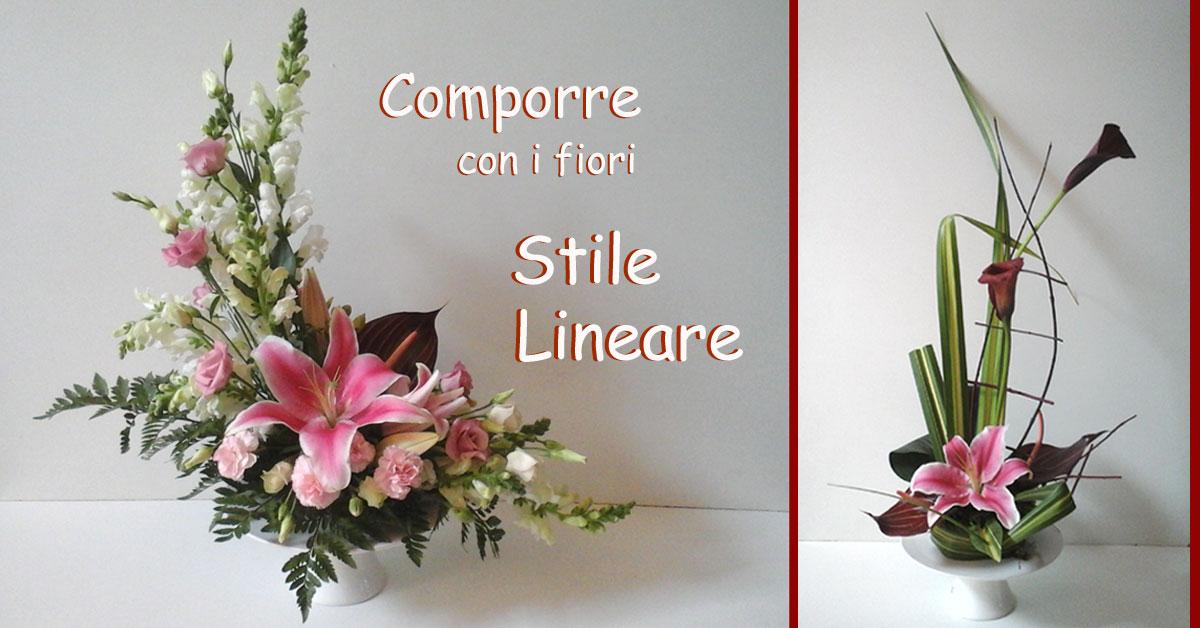 Composizioni floreali in stile lineare