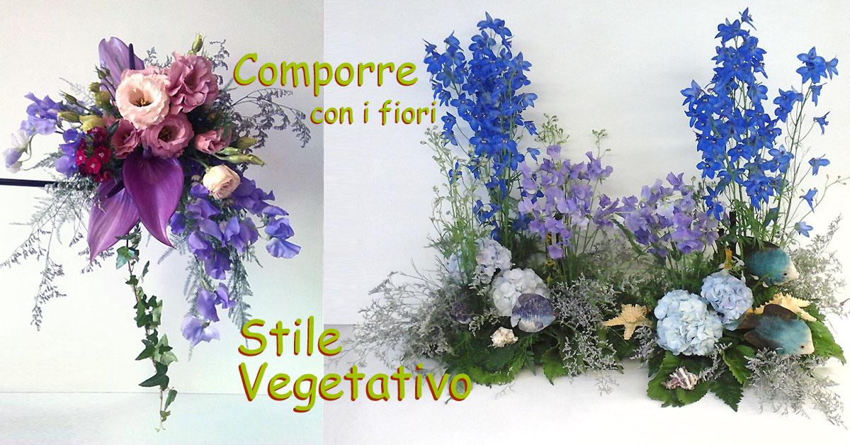 Comporre i fiori in stile vegetativo