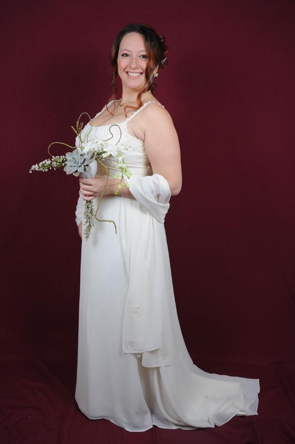 Bouquet da sposa lineare di fine inverno
