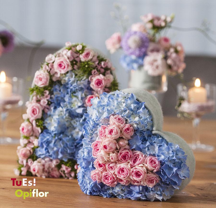 Un cuore di fiori per la festa della mamma