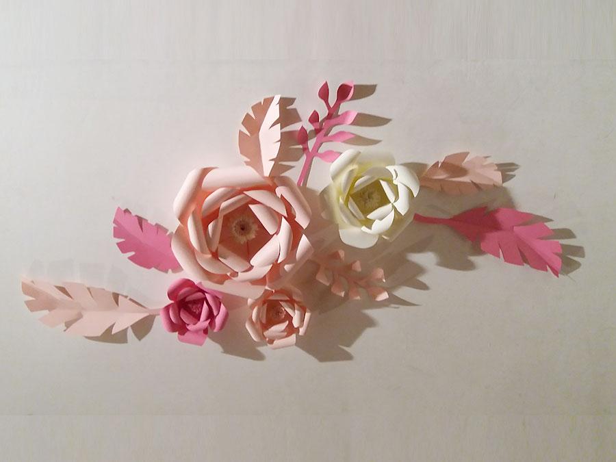 Corso confezionamento fiori carta per eventi Paper Flowers
