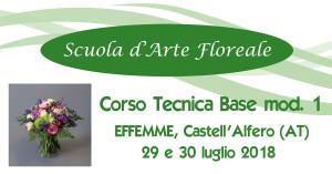 Effemme Asti Tecnica Base Fioristi I mod 29 e 30 luglio 2018 @ Effemme Ingrosso per Fioristi | Stazione | Piemonte | Italia